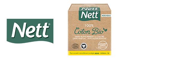 Les tampons Nett 100% Coton Bio