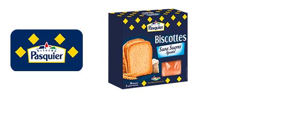 Biscottes Pasquier Sans Sucres Ajoutés