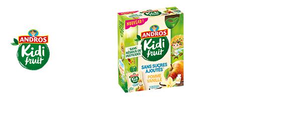 Les fruits mixés Kidifruit en gourdes