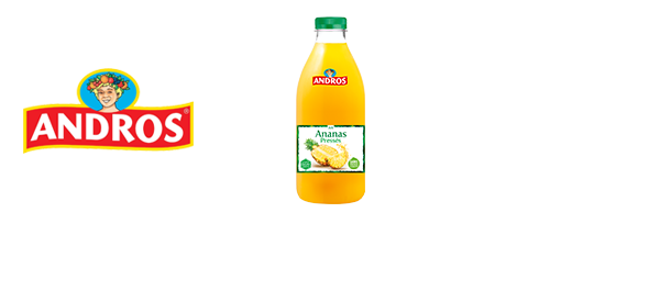 Les jus de fruits Andros