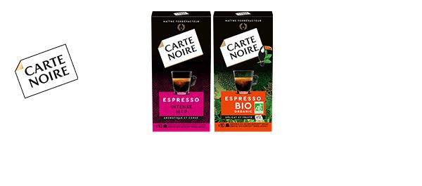 Capsules de café Carte Noire