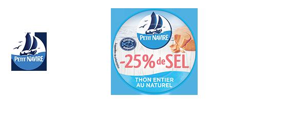 Gamme de Thon Petit Navire -25% de sel