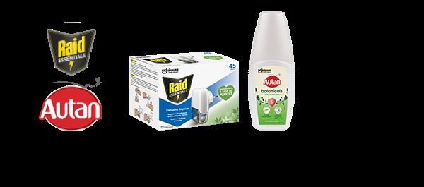 Raid diffuseur & Autan anti-moustiques