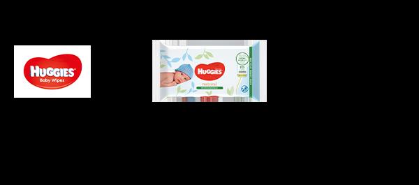Huggies® Natural Bio Babydoekjes
