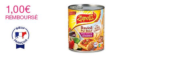 Ravioli Pur Bœuf Sauce aux Légumes