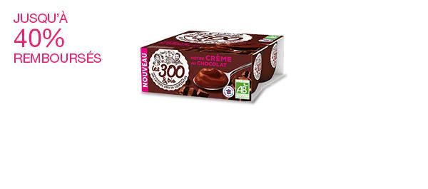 Les crèmes dessert Les 300&bio