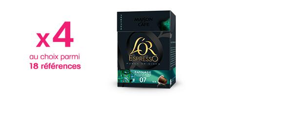Offre 4 produits L'OR EspressO