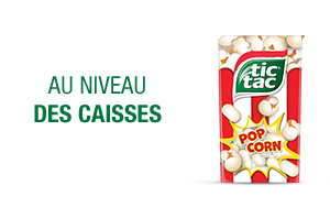 NOUVEAU :  Tic Tac goût PopCorn
