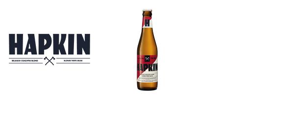 Hapkin. Bière blonde forte Belge.