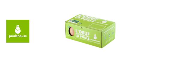 Boîte de 6 œufs BIO