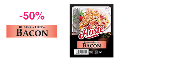 Rubans de Filet de Bacon 100g