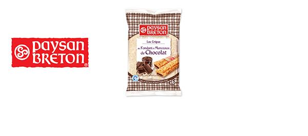 Gevulde pannenkoeken met chocolade