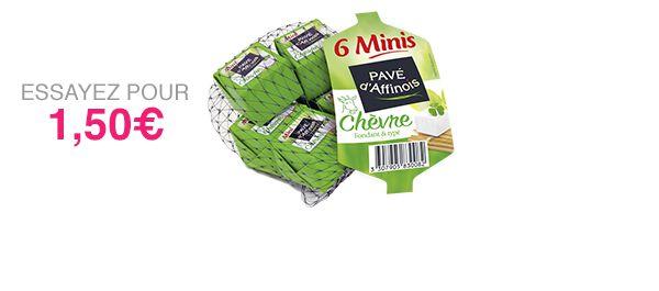 6 Minis Pavé d'Affinois Chèvre