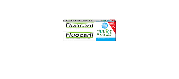 Lot de 2 Fluocaril Junior 6-12 Ans