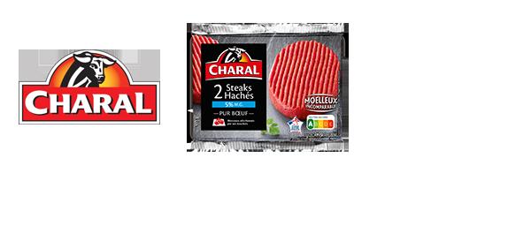 Les steaks hachés 100% Pur bœuf Charal