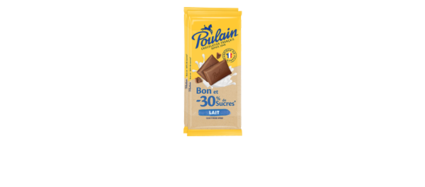 Chocolat au lait -30% sucres