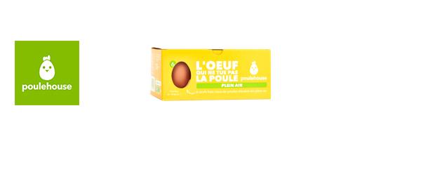Boîte de 6 œufs Plein air Poulehouse