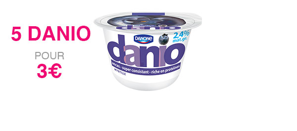 5 pots de Danio