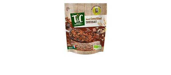 Muesli Croustillant BIO au chocolat 500g