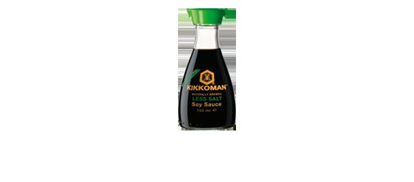 Sauce soja réduite en sel