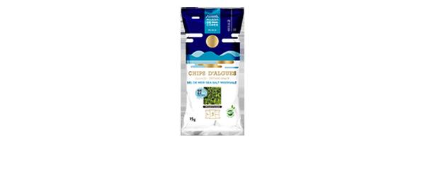 Chips d'algues sel de mer