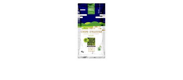 Chips d'algues wasabi