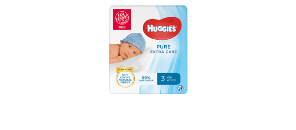 Lingettes Huggies® Extra Care x3