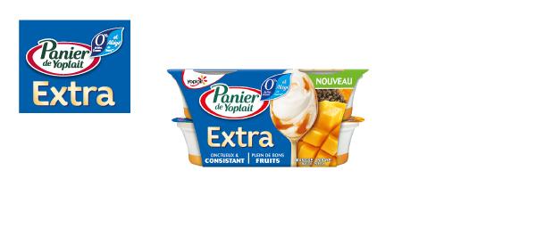 Nouveau Panier de Yoplait 0% Extra