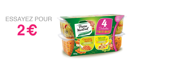 Pack de 4 salades portions