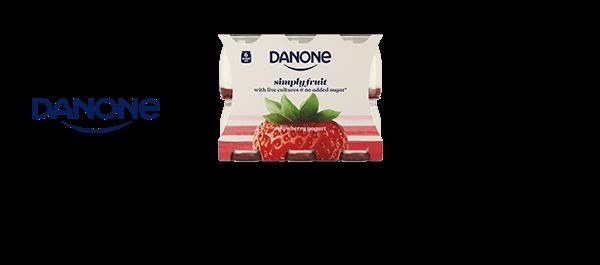 Danone Simply Fruit Strawberry Yogurt