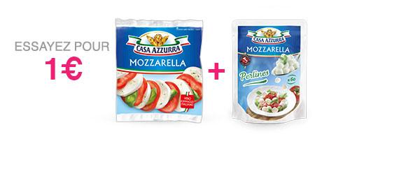 Mozzarella 125g ou 150g + Perlines 120g