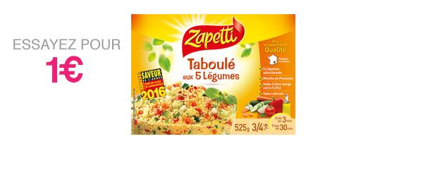 Taboulé aux 5 Légumes 525g