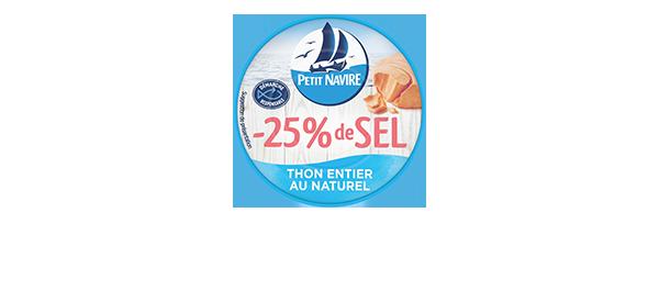 Thon naturel -25% de sel Petit Navire