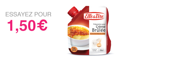 Elle & Vire – Crème Brûlée en Poche