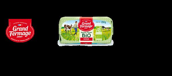Beurres moulés BIO Grand Fermage