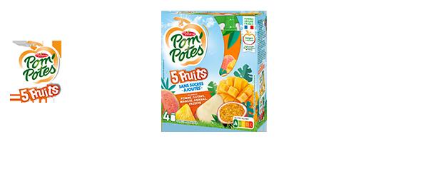 Pom'Potes® 5 Fruits