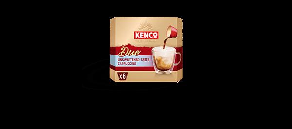 Kenco Duo Cappuccino Unsweetened x6