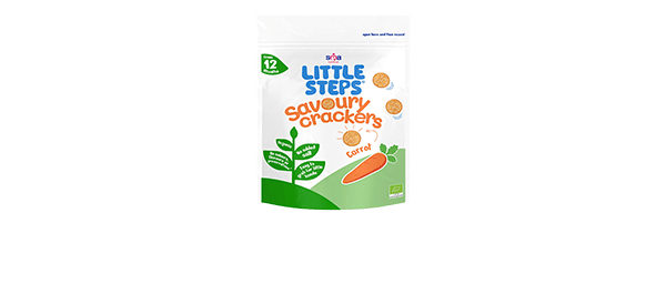 LITTLE STEPS® Savoury Carrot Crackers