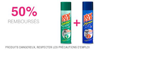 2 produits Decap'Four ou Décap'Feu