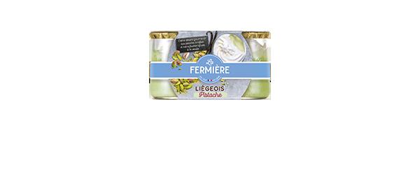 Liégeois à la pistache La Fermière