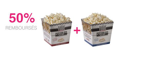 Popcorn Box Salé et Sucré