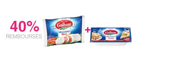 2 Mozzarellas Galbani au choix