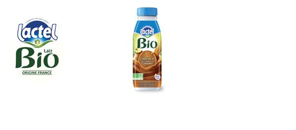 Lactel Bio Chocolat saveur Caramel