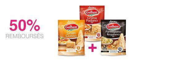 3 râpés italiens Galbani au choix