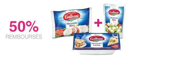 3 Mozzarellas Galbani au choix