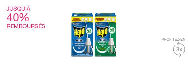 Recharge pour diffuseur liquide RAID®