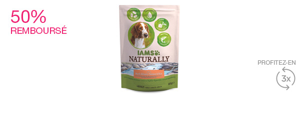 IAMS Naturally Croquettes Chien Adulte