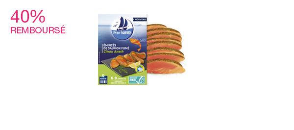 Les émincés de saumon fumé