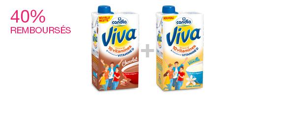Les laits VIVA Chocolat et Vanille