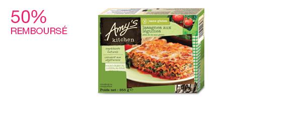 Plats préparés surgelés Amy's Kitchen